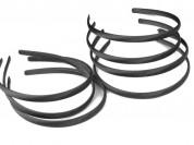 Vincha plástica forrada en raso negro 1cm x unidad
