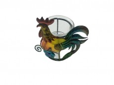 Portavela artesanal gallo x 1