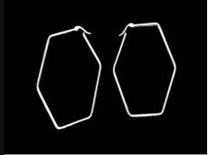 Aros argolla hexagono acero blanco 4 cm x unidad