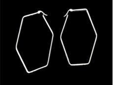Aros argolla hexagono acero blanco 5 cm x unidad