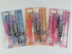 Set tijera, lima y pinza de depilar