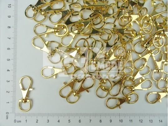 Mosquetón dorado para llavero 3.2 cm