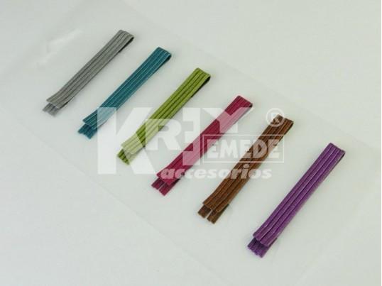 Horquillas metálicas medianas color lisa x blister