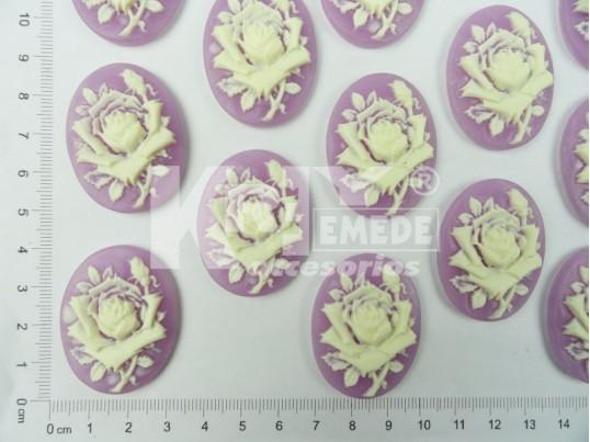 Camafeo flor grande
