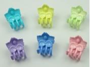 Broche nylon chico 3D flor x unidad