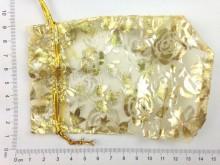Bolsa de organza dorada y plateada x unidad