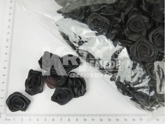 Rococó negra de raso 2,50cm