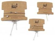Set pulseras flecha corazon