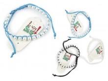 Pulsera hilo macramé y perlas