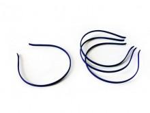 Vincha metálica forrada en seda fría azul marino 0.5 cm