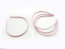 Vincha metálica forrada en seda fría rosa viejo 0.5 cm