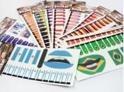 Set stickers tattoo uñas, labios y mejillas