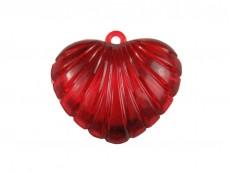 Corazón acrílico rayado x 520 gr