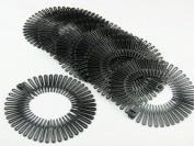 Vincha zig-zag negra paq. x 12