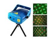 Mini láser audiorítmico multipunto verde y rojo