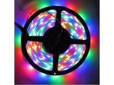 Tira led 3528 RGB (multicolor) exterior x5m sin transformador