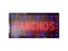 Cartel led PANCHOS con moviemiento