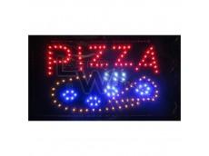 Cartel led PIZZA con moviemiento