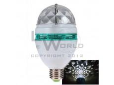 Lámpara led rgb giratoria a rosca E27