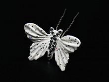 Horquilla mariposa con strass x unidad