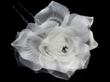Horquilla flor con strass x unidad