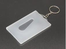 Llavero porta-tarjeta plástico x unidad